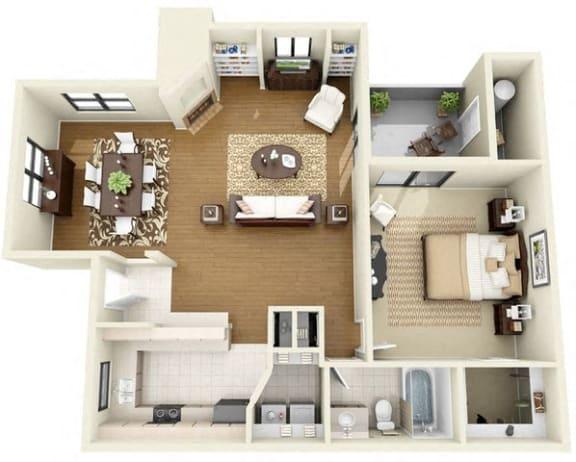 Floor Plan  Antigua   1 Bedroom 1 Bathroom Floor Plan