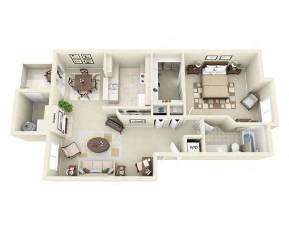Floor Plan  one Bedroom apartment for rent
