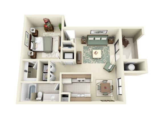 Floor Plan  1 bedroom apartments for rent in Northeast Albuquerque