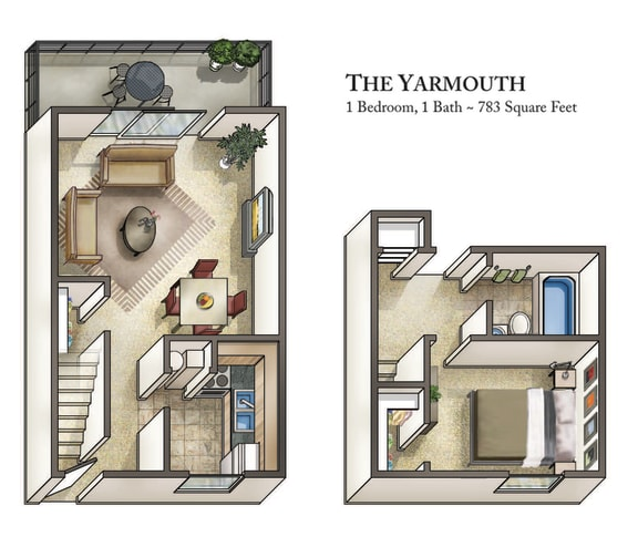 Floor Plan  The Yarmouth at Staples Mill Townhomes, Richmond
