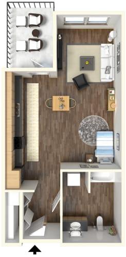 Floor Plan  Studio l Fremont Mews Apartments in Sacramento CA