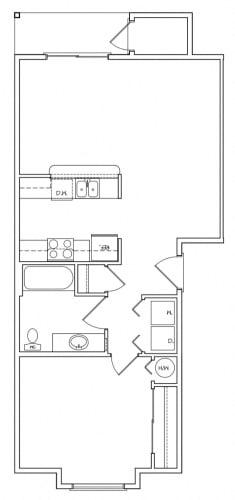 Floor Plan  Sutherlin, OR Falcon Ridge Apartments 1 bedroom 1 bath