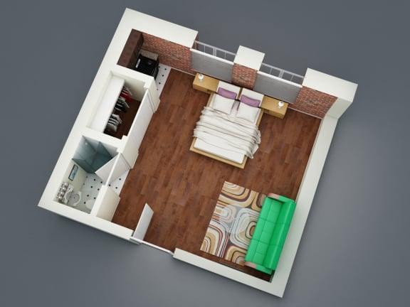 Floor Plan  Silver Lake Towers Bachelor Floorplan