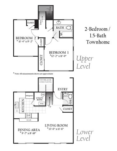 Floor Plan  2Bed1Bath
