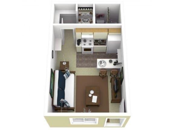 Floor Plan  Studio One Bathroom