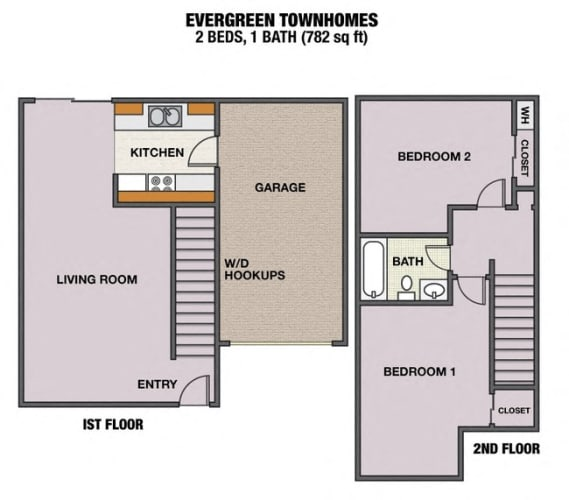 Floor Plan  evergreen townhouses Springfield, OR logo