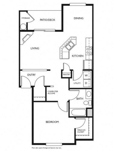 Floor Plan  Evans Creek at Woodbridge Redmond, WA 2 bedroom 2 bath