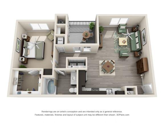Floor Plan  Luxury Floorplan Unit 1A