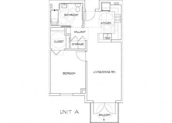 Floor Plan  one bedroom floor plan l Athens Vista Senior Apartment in Los Angeles CA