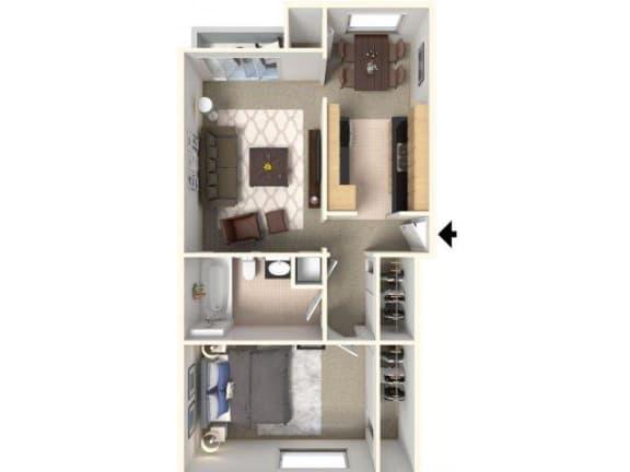 Floor Plan  ONE BED