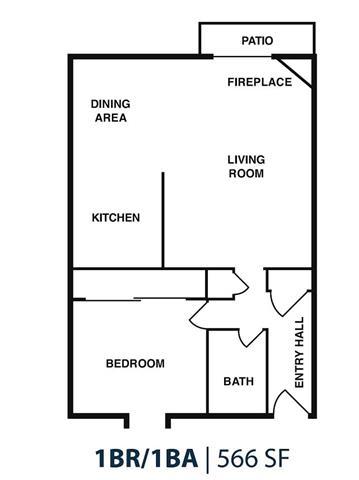 Floor Plan  1BD 1BA