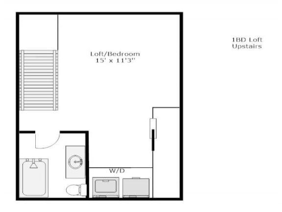 Floor Plan  1 bed / 1.5 bath