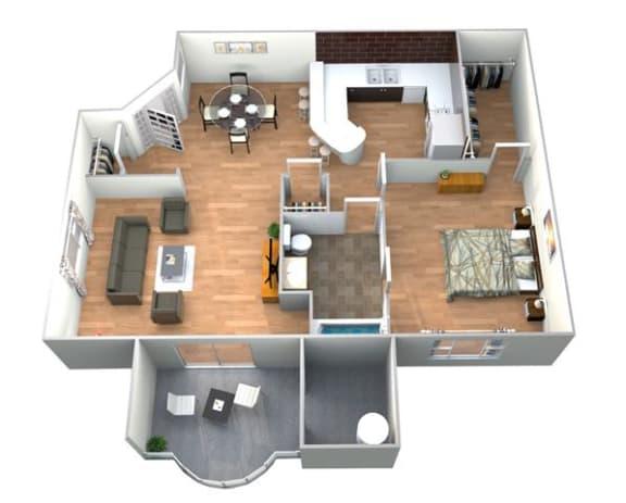 Floor Plan  Villa Medici Floor Plan at Medici Apartment Homes, Bermuda Dunes, CA, 92203