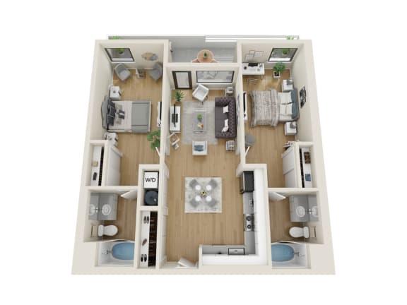 Floor Plan  Stratus Floor Plan at Sora, Inglewood, CA, 90302