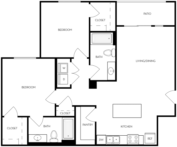 Floor Plan  b20b Floor Plan at Altair at Riverwalk, West Haven