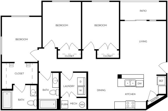Floor Plan  c20a Floor Plan at Altair at Riverwalk, Utah