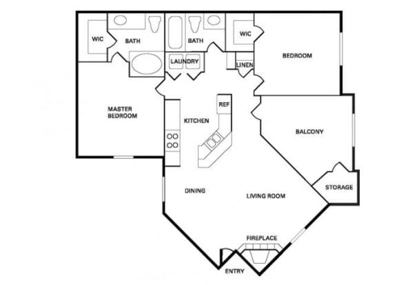 Floor Plan  San Jose (B-2) floor plan.