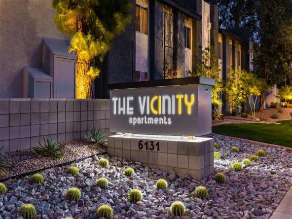 The Vicinity Sign at The Vicinity, Arizona, 85016