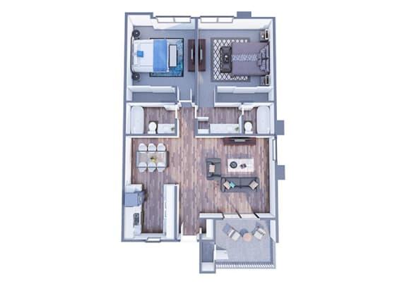 Floor Plan  Silva Floor Plan at The Vicinity, Phoenix, AZ