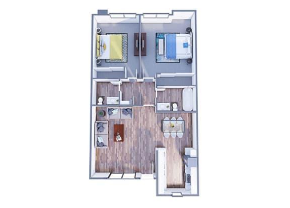Floor Plan  Tangerine Granada Floor Plan at The Vicinity, Phoenix, AZ, 85016