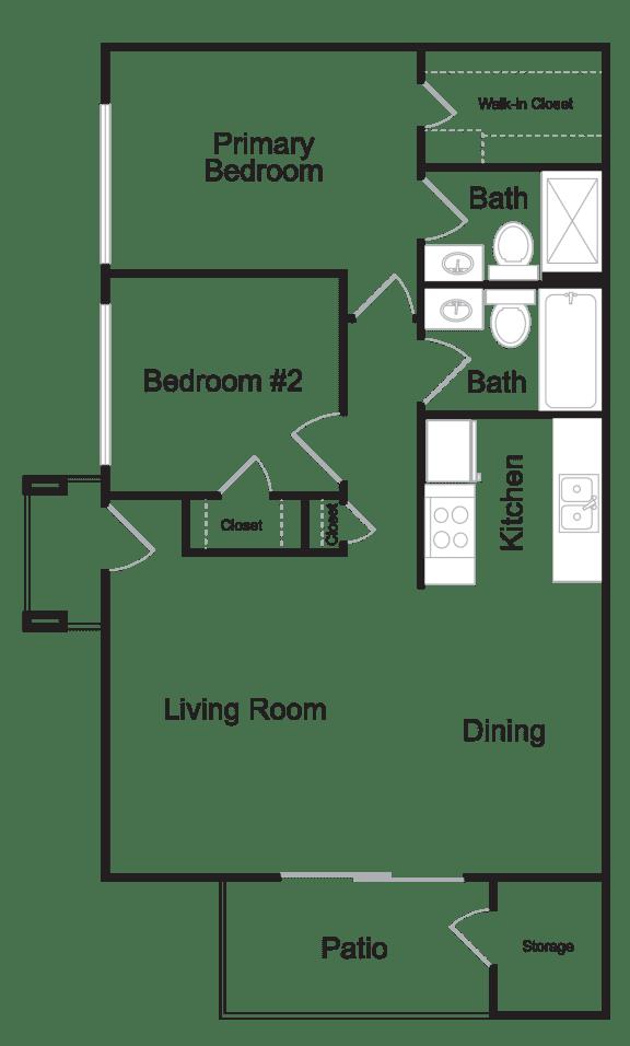 Floor Plan  Two Bedroom A Floor plan at Portola West Valley, Phoenix