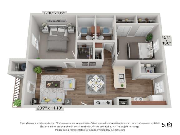 Floor Plan  B1 The Live Oak