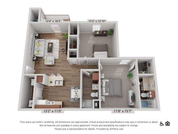 Floor Plan  B5  Pecan