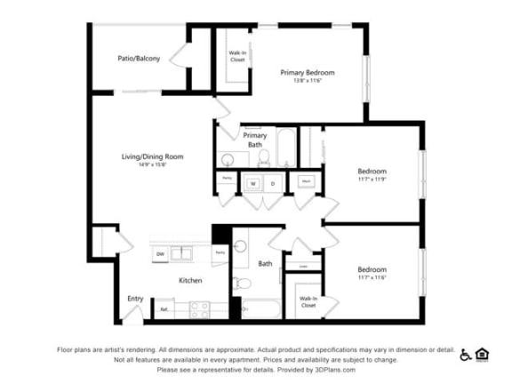 Floor Plan  Alpine Vista 3B 3Bed2Bath at Alpine Vista, Colorado, 80922