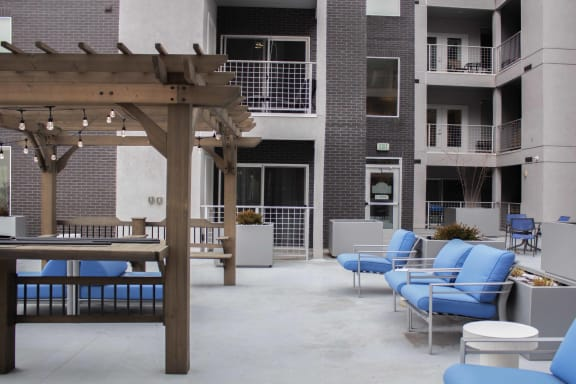 Outdoor Lounge at Downtown 360, Utah, 84101