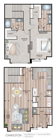 Floor Plan  Charleston Floor Plan at Notting Hill, Atlanta, 30346