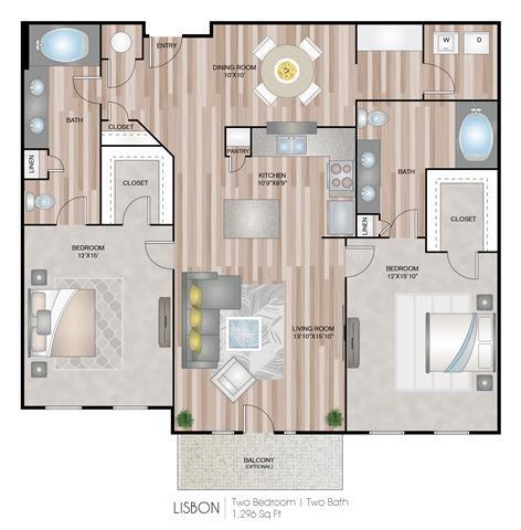 Floor Plan  Lisbon Floor Plan at Notting Hill, Atlanta, GA