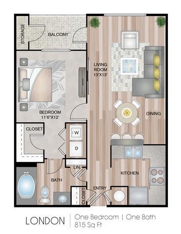 Floor Plan  London Floor Plan at Notting Hill, Atlanta, GA