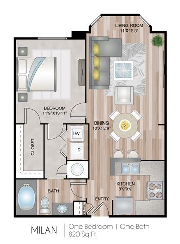 Floor Plan  Milan Floor Plan at Notting Hill, Atlanta, 30346