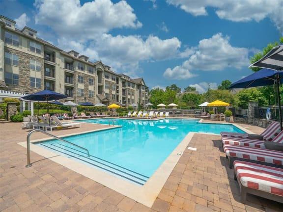 Poolside Lounge Area at Belmont Place, Marietta, GA, 30067