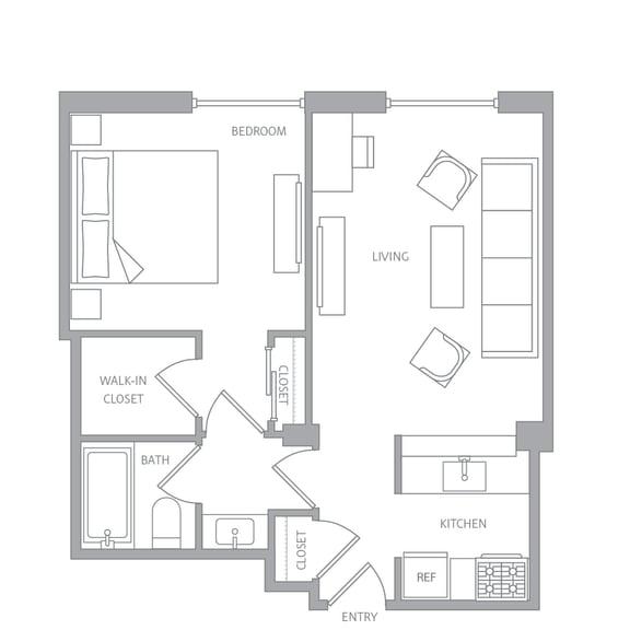 Floor Plan  e10a Floor Plan at Nob Hill Tower, San Francisco, CA