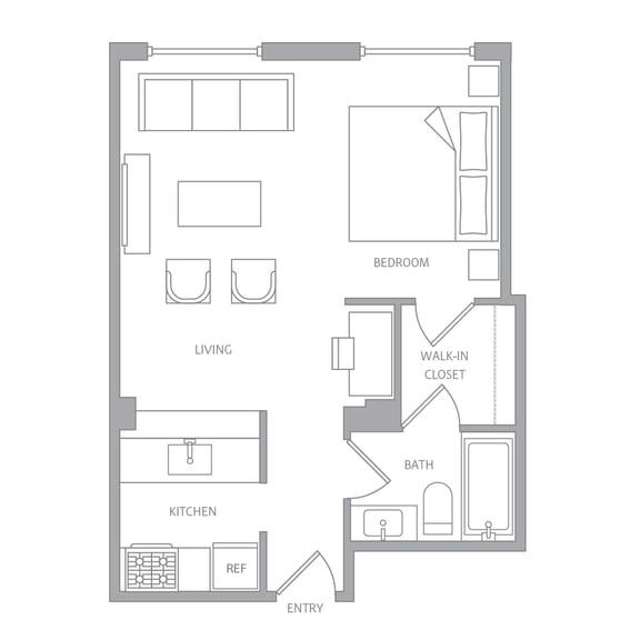 Floor Plan  e10b Floor Plan at Nob Hill Tower, California, 94109