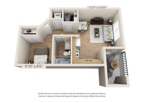 Floor Plan  Studio at 206, Hillsboro