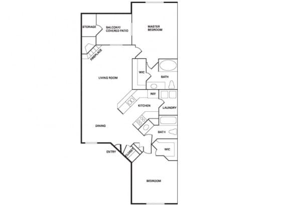 Floor Plan  San Miguel (B-3) floor plan.