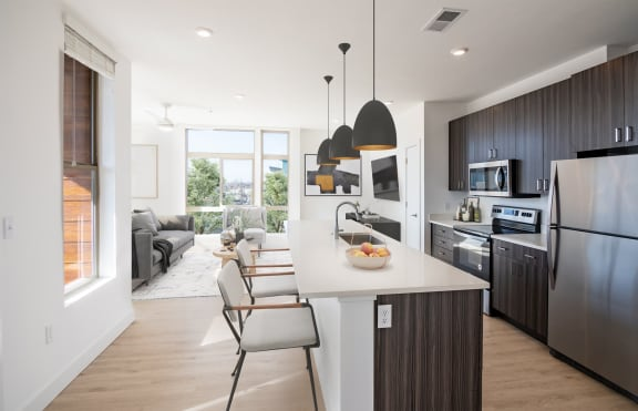 Gourmet Kitchen With Island at Upper West, Utah, 84088