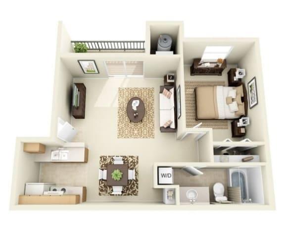 Floor Plan  Pinon one bedroom one bathroom