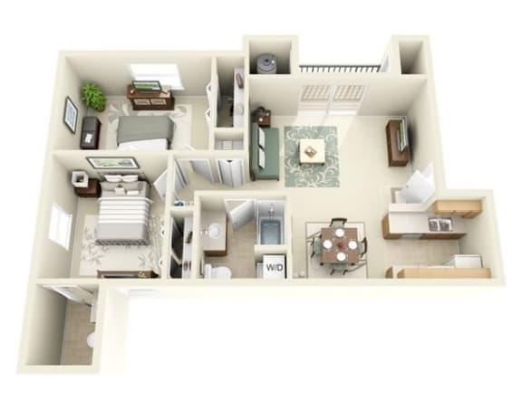 Floor Plan  Sage two bedroom two bathroom
