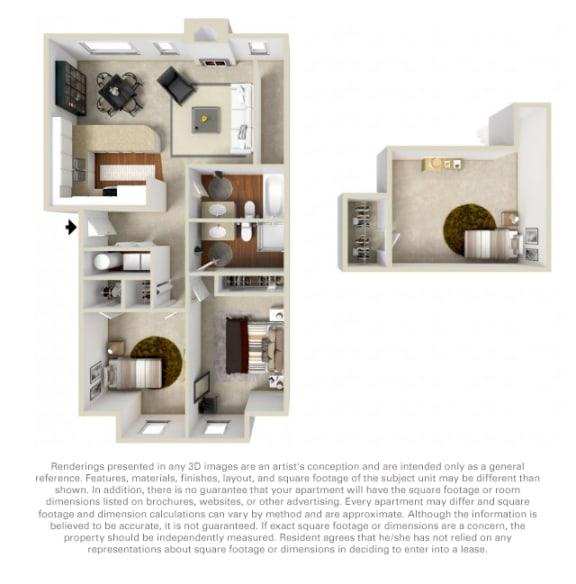 Floor Plan  The Woodlands 2 bedroom loft
