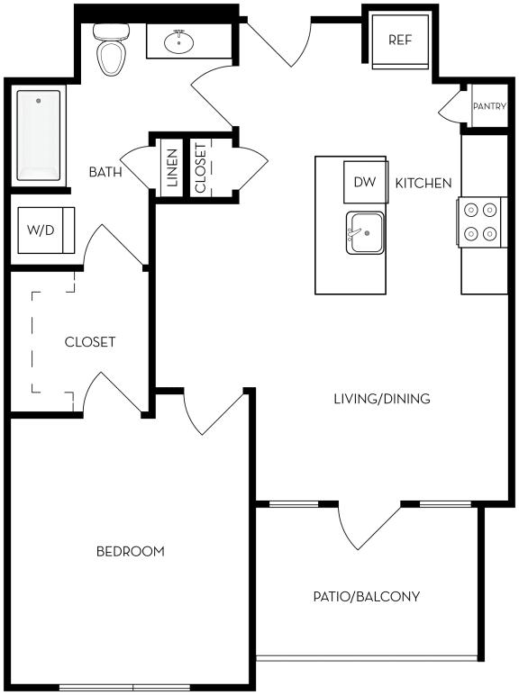 Floor Plan  A1 Floor Plan at Upper West, West Jordan