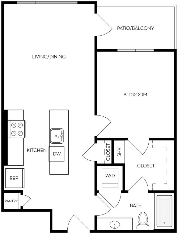 Floor Plan  A2 Floor Plan at Upper West, Utah