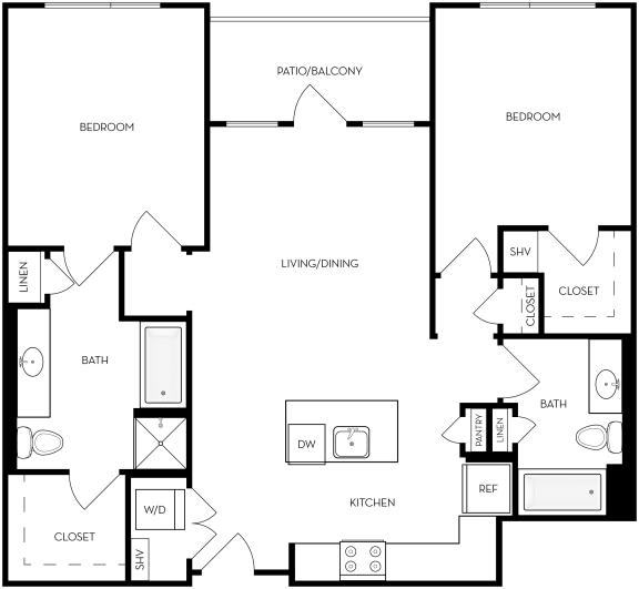 Floor Plan  B2 Floor Plan at Upper West, West Jordan, UT, 84088