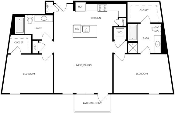 Floor Plan  B6 Floor Plan at Upper West, West Jordan, Utah