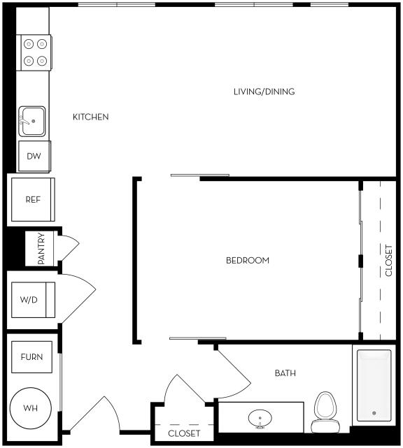 Floor Plan  UB1 Floor Plan at Upper West, West Jordan, Utah
