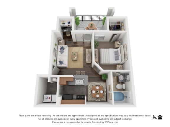 Floor Plan  at Villas at Stone Oak Ranch, Austin, TX, 78727