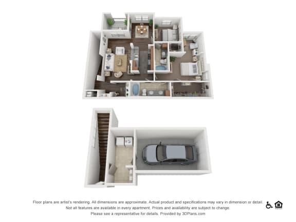 Floor Plan  B7 Floor Plan at Villas at Stone Oak Ranch, Austin, TX