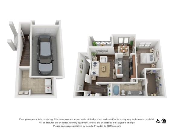 Floor Plan  at Villas at Stone Oak Ranch, Texas